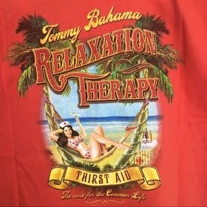 Tommy Bahama mens short sleeve pinup graphic tee M